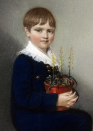 Portrait of Charles Darwin (detail) by Ellen Sharples (1816)