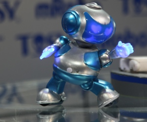 Tosy DiscoRobo is a dancing robot. The Best of Toyfair 2012 (Popular Science).