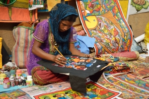 Artist at the 2013 International Kolkata Book Fair, the largest non-trade book fair in the world and the most attended book fair in the world. (Biswarup Ganguly)